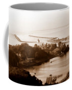Holland Michigan Harbor Big Red Aerial Photo Coffee Mug