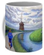 Holland Windmill Bike Path Coffee Mug
