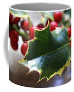 Holly Berries- Photograph By Linda Woods Coffee Mug