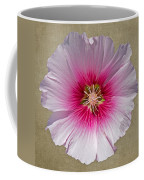 Hollyhock On Linen 2 Coffee Mug