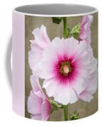 Hollyhock On Linen Coffee Mug