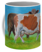 Holstein Friesian Cow And Brown Cow Coffee Mug
