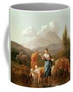 Holy Family At A Stream Coffee Mug