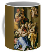 Holy Family With Saint Anne Catherine Of Alexandria And Mary Magdalene Coffee Mug