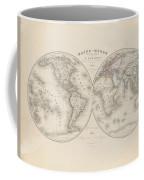 Homalographic World Map  Coffee Mug