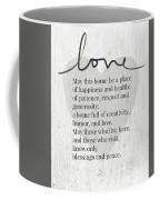 Home Blessing Rustic- Art By Linda Woods Coffee Mug