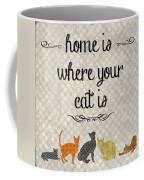 Home Is Where Your Cat Is-jp3040 Coffee Mug