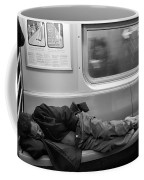 Homeless In Motion In Black And White Coffee Mug