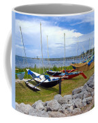 Homemade Outriggers Canoes On The Indian River Lagoon In Florida Coffee Mug