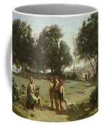 Homer And The Shepherds In A Landscape Coffee Mug