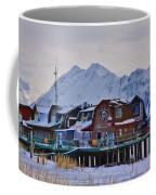 Homer Spit Board Walk Winter Moments Coffee Mug