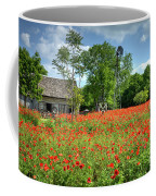 Homestead In The Poppies Coffee Mug