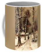 Homeward Through The Winter Forest Coffee Mug
