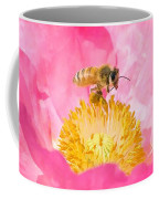Honey Bee Collecting Pollen Coffee Mug