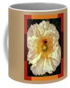 Honey Bee In Stunning White And Gold Flower Coffee Mug