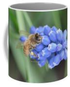Honey Bee On Blue Flowers Coffee Mug