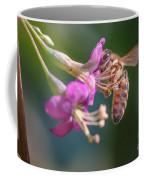 Honey Bee On Goji Berry Flower Coffee Mug