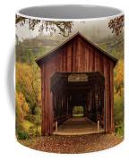 Honey Run Covered Bridge In Autumn Coffee Mug