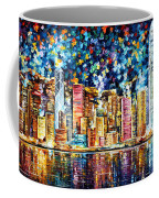 Hong Kong - Palette Knife Oil Painting On Canvas By Leonid Afremov Coffee Mug
