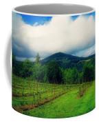Hood River Oregon - Cloud Burst Over The Vineyard Coffee Mug