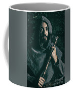 Hooded Man With Axe Coffee Mug