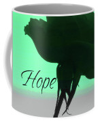 Hope Rose Silhouette - Floral Photography - Rose Macro W-text Coffee Mug