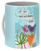 Hopes And Dreams Soar Coffee Mug by Linda Woods