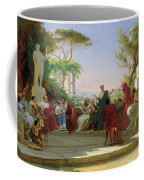 Horatius Reading His Satires To Maecenas Coffee Mug by Fedor Andreevich Bronnikov