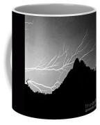 Horizonal Lightning Bw Coffee Mug