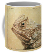 Horned Toad Coffee Mug by James W Johnson