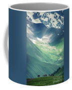 Horse Among The Mountains Of Georgia Coffee Mug