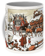 Horse And Carriage In The Snow Coffee Mug