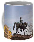 Horse And Rider Monument Coffee Mug