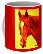 Horse Art Horse Portrait Maduro Deep Yellow And Orange Coffee Mug