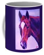 Horse Art Horse Portrait Maduro Pink And Purple Coffee Mug