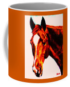 Horse Art Horse Portrait Maduro Red With Yellow Highlights Coffee Mug