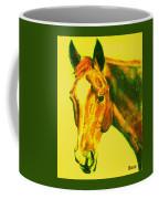 Horse Art Horse Portrait Maduro Yellow Coffee Mug