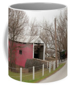 Horse Buggy And Covered Bridge Coffee Mug