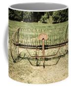 Horse Drawn Hay Rake Aged Coffee Mug
