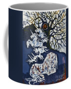 Horse Dreaming Below Trees Coffee Mug
