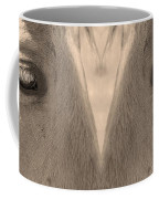Horse Eyes Love Sepia Coffee Mug