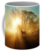 Horse In The Fog At Dawn Coffee Mug