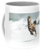 Horse In The Storm - Parallel Hatching Coffee Mug