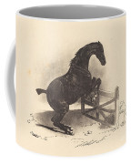 Horse Jumping A Barrier Coffee Mug