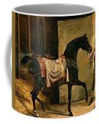 Horse Leaving A Stable Coffee Mug