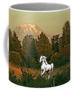 Horse Mountain And Barn Coffee Mug