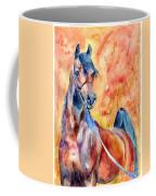 Horse On The Orange Background Coffee Mug