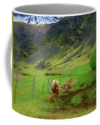 Horse On The South Iceland Coast Coffee Mug
