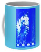 Horse Painting Jumper No Faults Aquamarine Coffee Mug