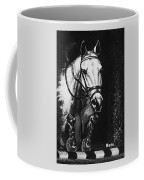 Horse Painting  Jumper No Faults Black And White Coffee Mug